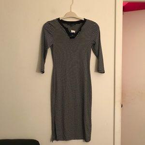 One Clothing NWT Bodycon Striped Half Sleeve Midi